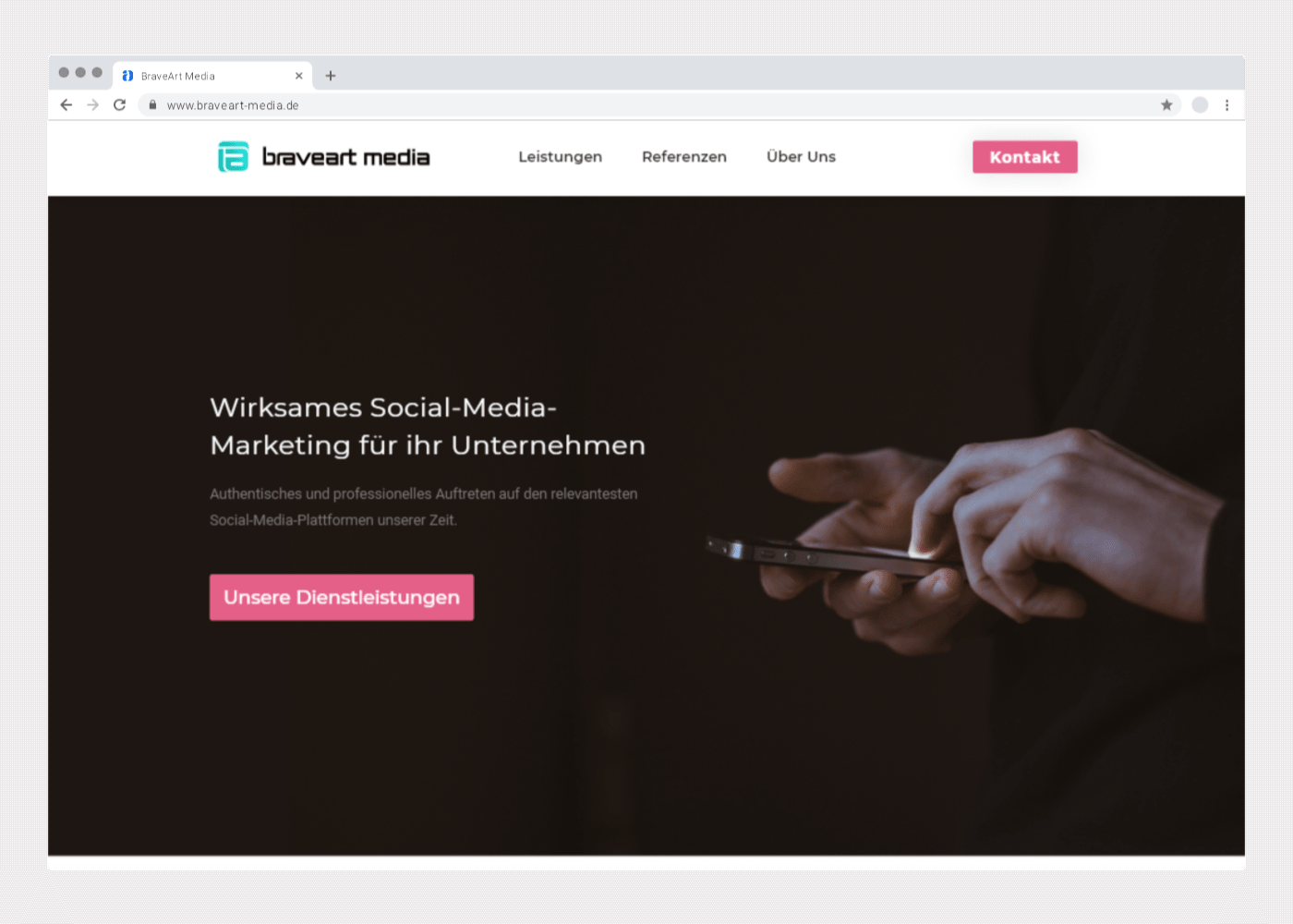 Chrome Mockup von braveart-media.de