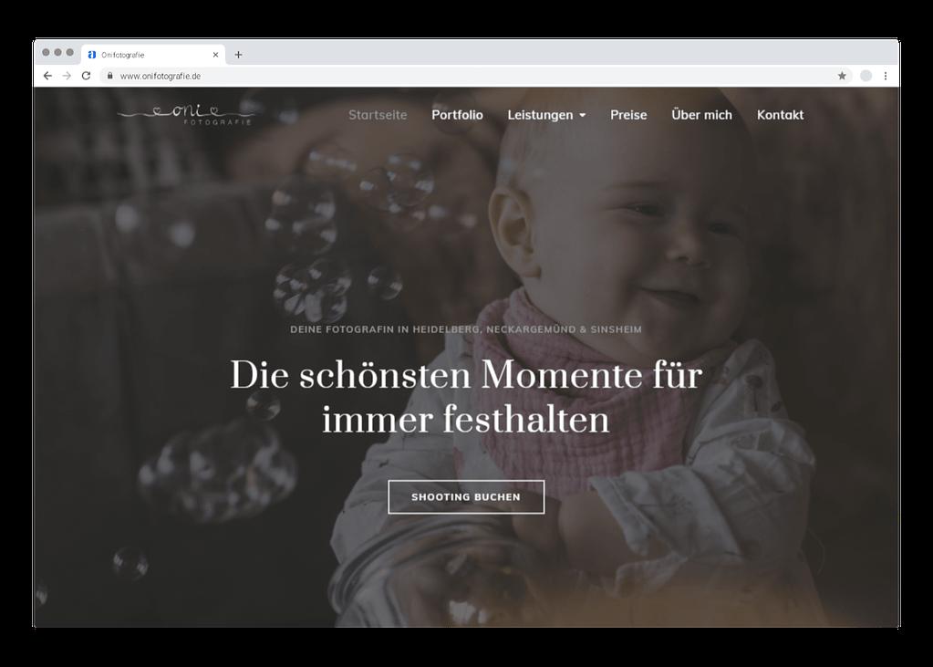 Chrome Mockup von onifotografie.de